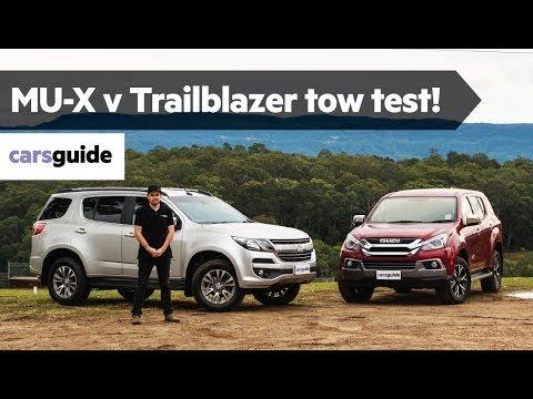Isuzu MU-X vs Holden Trailblazer 2019 review: tow test