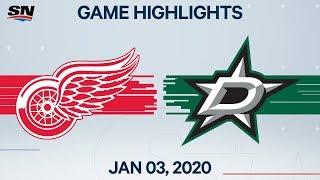 NHL Highlights   Red Wings vs Stars - Jan. 03, 2020