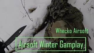 4K | Airsoft winter gameplay | Pistol and knife Action man Mode thumbnail