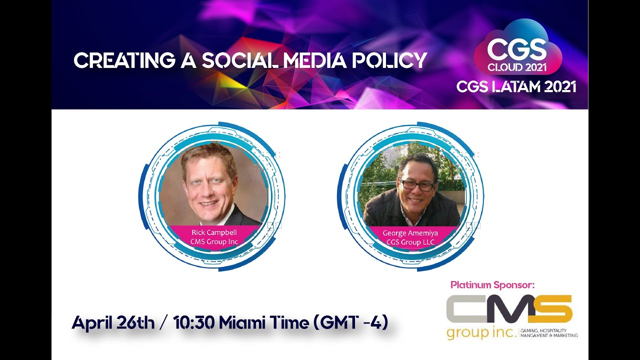 Caribbean Gaming Summit 2021:  Creating a Social Media Policy