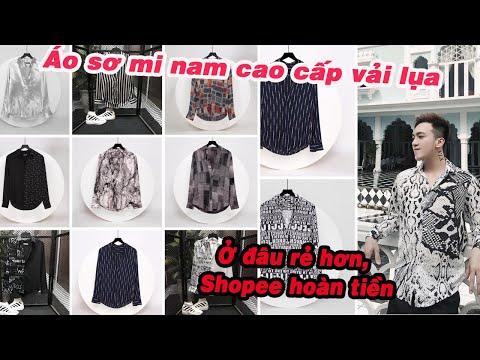 Áo Sơ Mi Nam họa tiết Chất liệu lụa cao cấp, chất vải mềm mịn giá rẻ nhất mxh Shopee, Lazada
