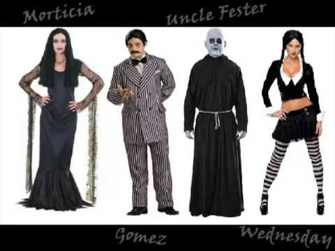 addams family halloween costumes video youtube