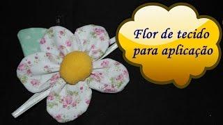 Flor de tecido para aplicação