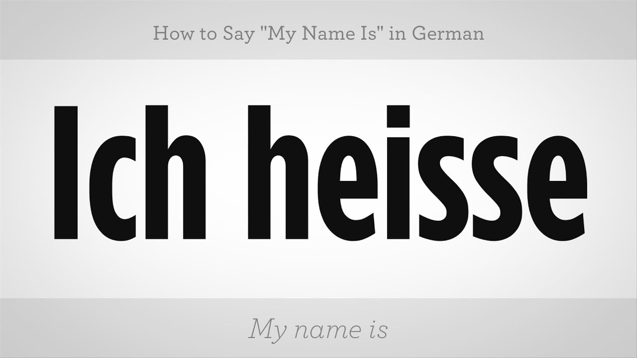 How To Say My Name Is In German German Lessons Youtube