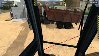 Using a Big digger in Construction Simulator 2012 (Gameplay)