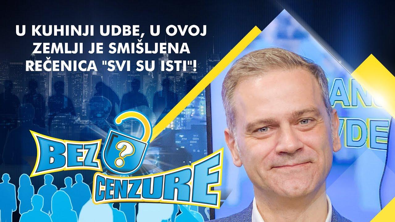 """Borko Stefanović - U kuhinji UDBE, u ovoj zemlji je smišljena rečenica """"Svi su isti""""!"""