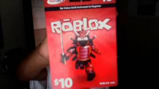 shows You a ROBLOX Card