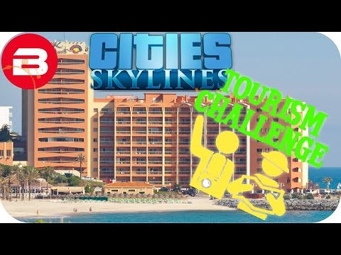Cities Skylines Gameplay - FIRST HOTEL BY THE SEA! (Cities: Skylines TOURIST Scenario) #2