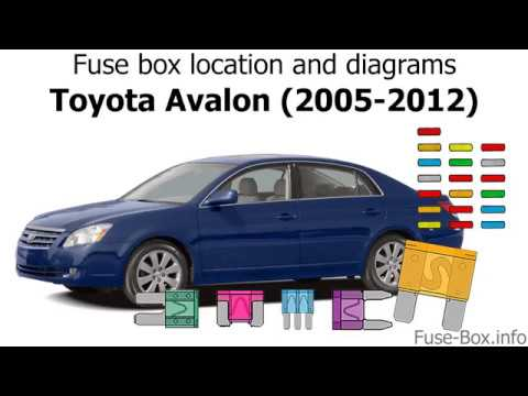 fuse box location and diagrams: toyota avalon (2005-2012) - youtube  youtube