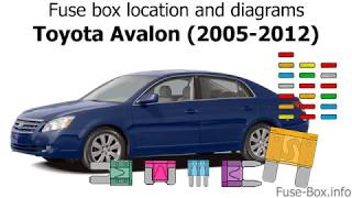 fuse box location and diagrams: toyota avalon (2005-2012) - youtube  youtube