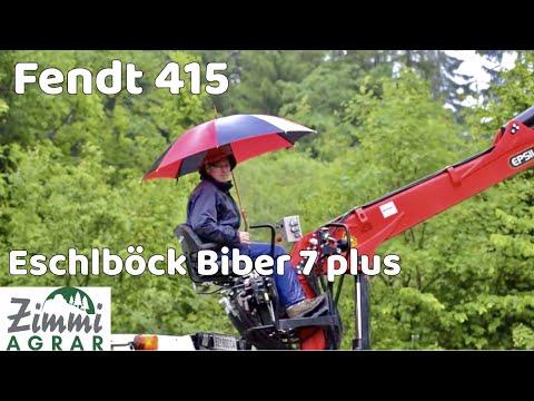 Fendt 415 Vario - Eschlböck Biber 7 Plus - Epsilon Holzkran  (Zimmi Agrar)