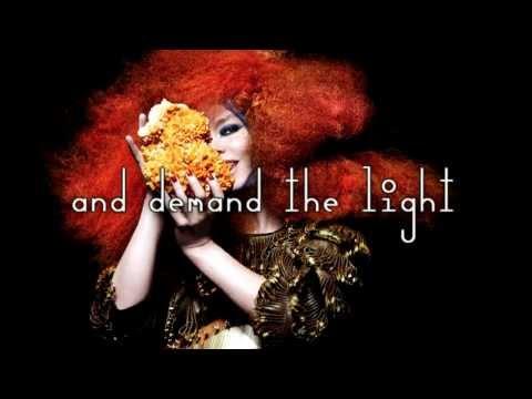 Björk - Crystalline - Karaoke + Biophilia Font + Voice Lyrics Instrumental [Surrounded]