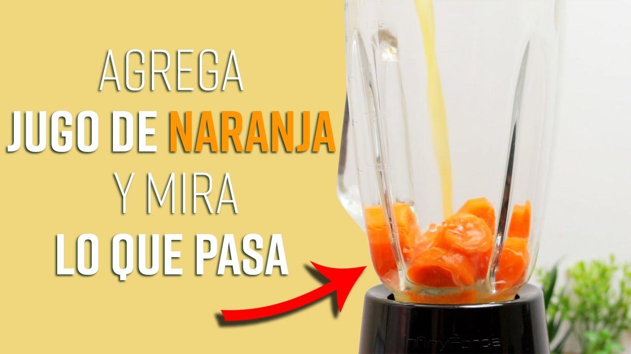 No Vas A Creer Todo Lo Que Pasa Cuando Mezclas Jugo De Naranja y Zanahoria En Una Licuadora