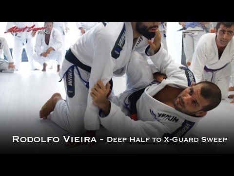 Rodolfo Vieira - Deep Half to X Guard Sweep Variation