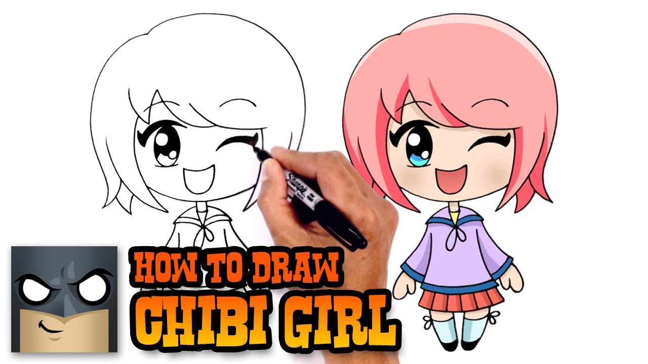 how to draw chibi girl drawing tutorial   youtube