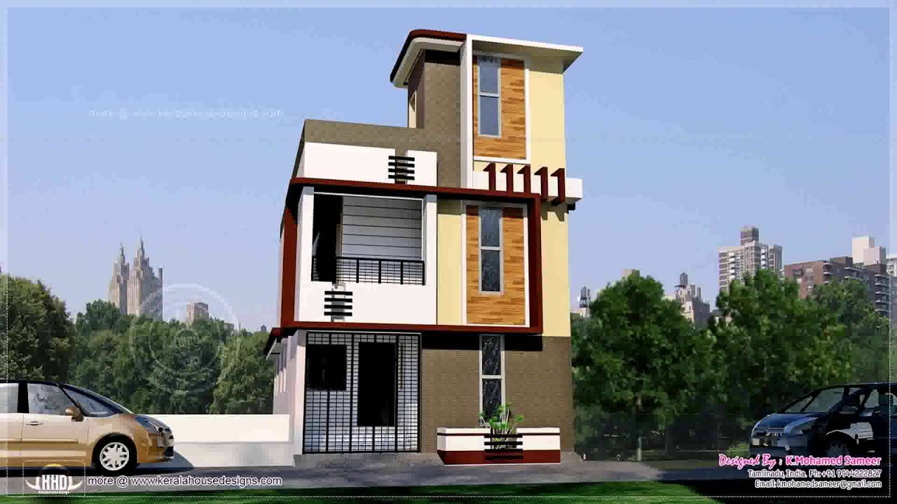 South Indian House Front Elevation Designs For Single Floor - YouTube