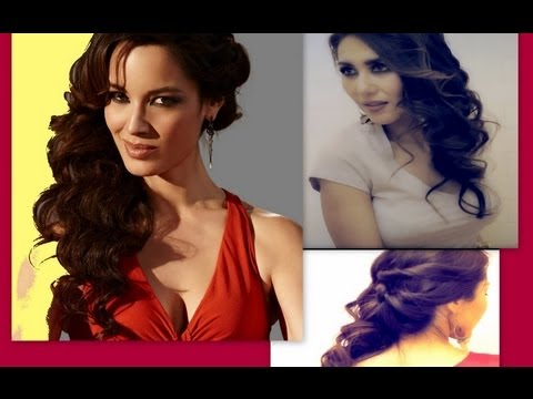 Cute hairstyles side swept curly half up updo for medium long cute hairstyles side swept curly half up updo for medium long hair tutorial 007 skyfall bond girl youtube solutioingenieria Choice Image