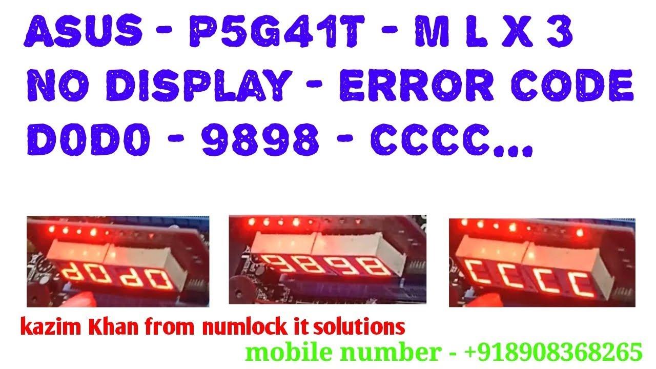 Asus Error Code A20   020/20