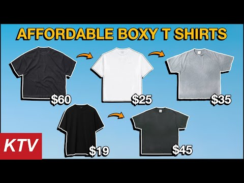 10+ AFFORDABLE Blank T Shirts / BOXY & WASHED Tees
