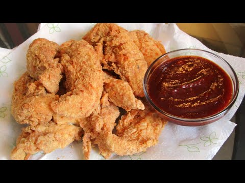 How to make Fried Chicken Tenders and Homemade Barbecue Sauce