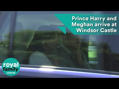 Prince Harry and Meghan Markle driven up to Windsor Castle for wedding rehearsal