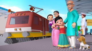 கூக் கூ ரயில் வண்டி, குழந்தைகள் விரும்பும் ரயில் வண்டி | Tamil Rhymes for Children | Infobells