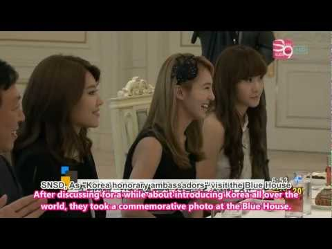 [Eng] SBS Good Morning The Blue House Visit - SNSD [110820]