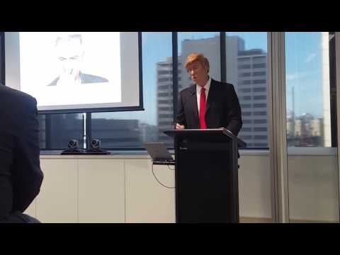Ben Price as Donald Trump and other celebrities.