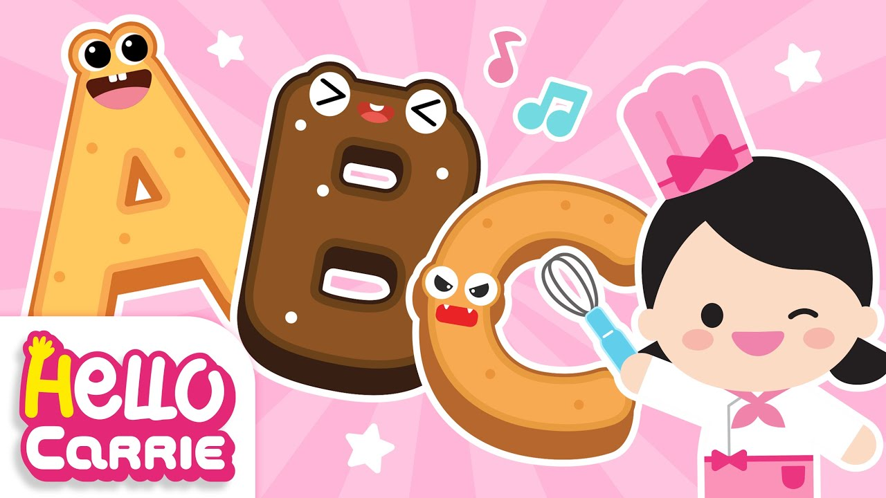 🍰Sing ABC🍰 Bake delicious ABC cookies   Alphabet Song   Hello Carrie Kids Song