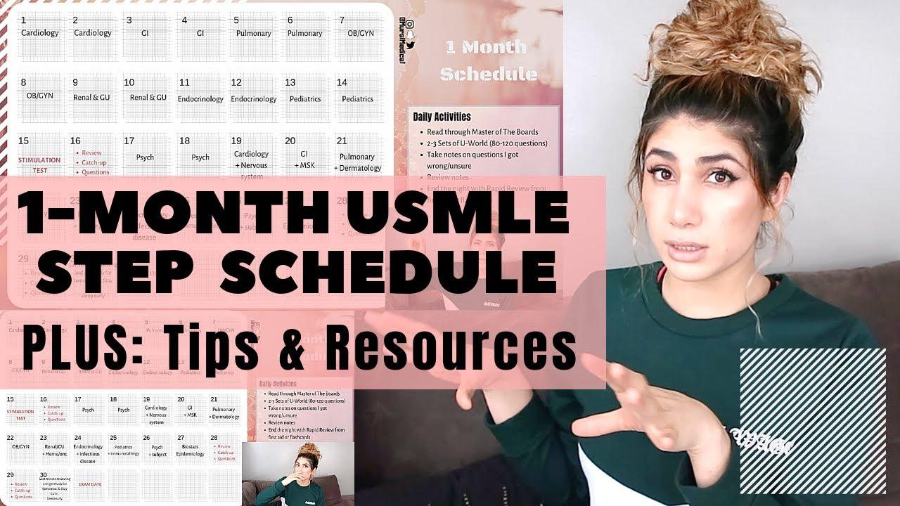 Step 2CK Study Schedule | 1 Month