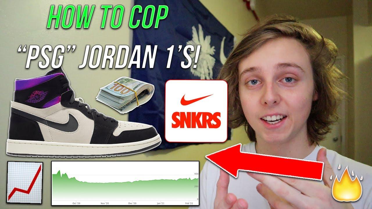 how to cop air jordan 1 zoom cmft x paris saint germain for retail snkrs resell raffles