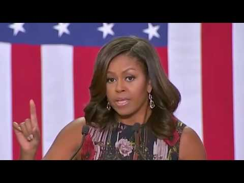 Michelle Obama speech at George Mason University supporting Hillary Clinton