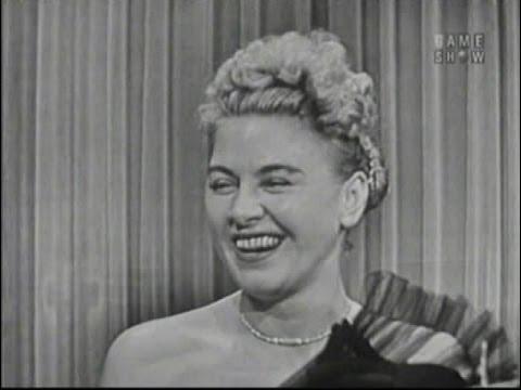 What's My Line? - Hildegarde; Laraine Day [panel] (May 8, 1955)