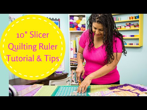 """10"""" Slicer Quilting Ruler- Video Tutorial by The Crafty Gemini"""