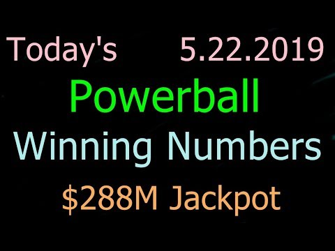 Today Powerball Winning Numbers 22 May 2019. Powerball Drawing Tonight Wednesday 5/22/2019