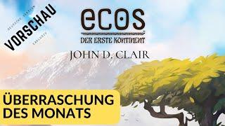 Ecos - Der erste Kontinent (John D. Clair, AEG 2019) Überraschung des Monats - Essen 2019 Vorschau