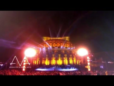 Kohar Concert, Projection Mapping at Yerevan Opera House, Armenia 2011