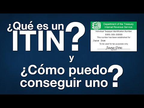 ¿Qué es un ITIN y cómo puedo conseguir uno?