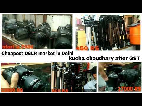 DSLR market in Delhi | cheap price | best places to buy DSLR & camera accessories | kucha choudhary