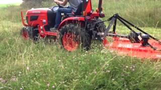 23 hp kubota with 4 ft land pride brush hog