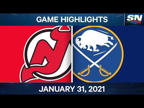 NHL Game Highlights | Devils vs. Sabres - Jan. 31, 2021