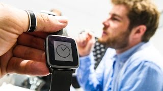 Pebble Time Steel - Die Edel-Pebble im Hands On   MWC 2015