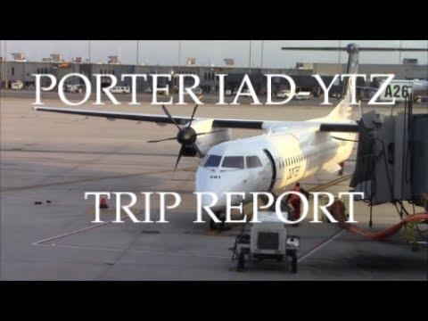 TRIP REPORT: Porter Airlines Bombardier Dash 8-Q402 | Washington (IAD) - Toronto (YTZ)