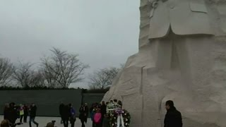 Raw: Wreath Laid, Pence Visits MLK Jr. Memorial