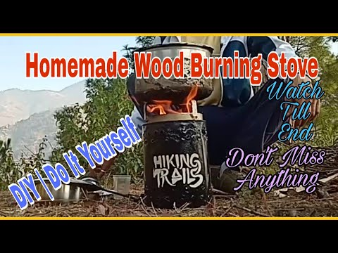 Homemade Wood Burning Stove | DIY || Do It Yourself | Without Drill Machine & Steel Cutter