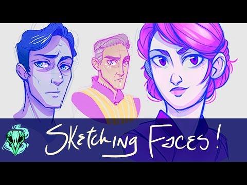 Sketching Faces || Digital Art Practice
