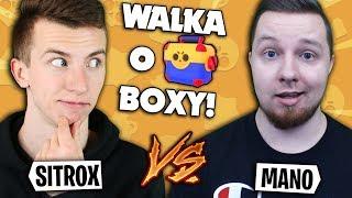 SITR0X vs MANOYEK - WALKA O MEGA BOXY w Brawl Stars!