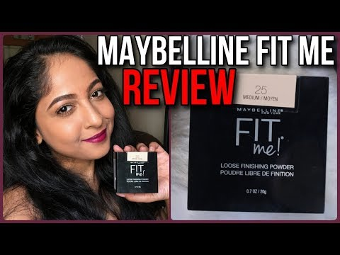 *NEW* MAYBELLINE FIT ME LOOSE FINISHING POWDER REVIEW | Stacey Castanha