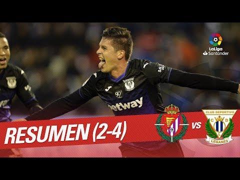 Resumen de Real Valladolid vs CD Leganés (2-4)