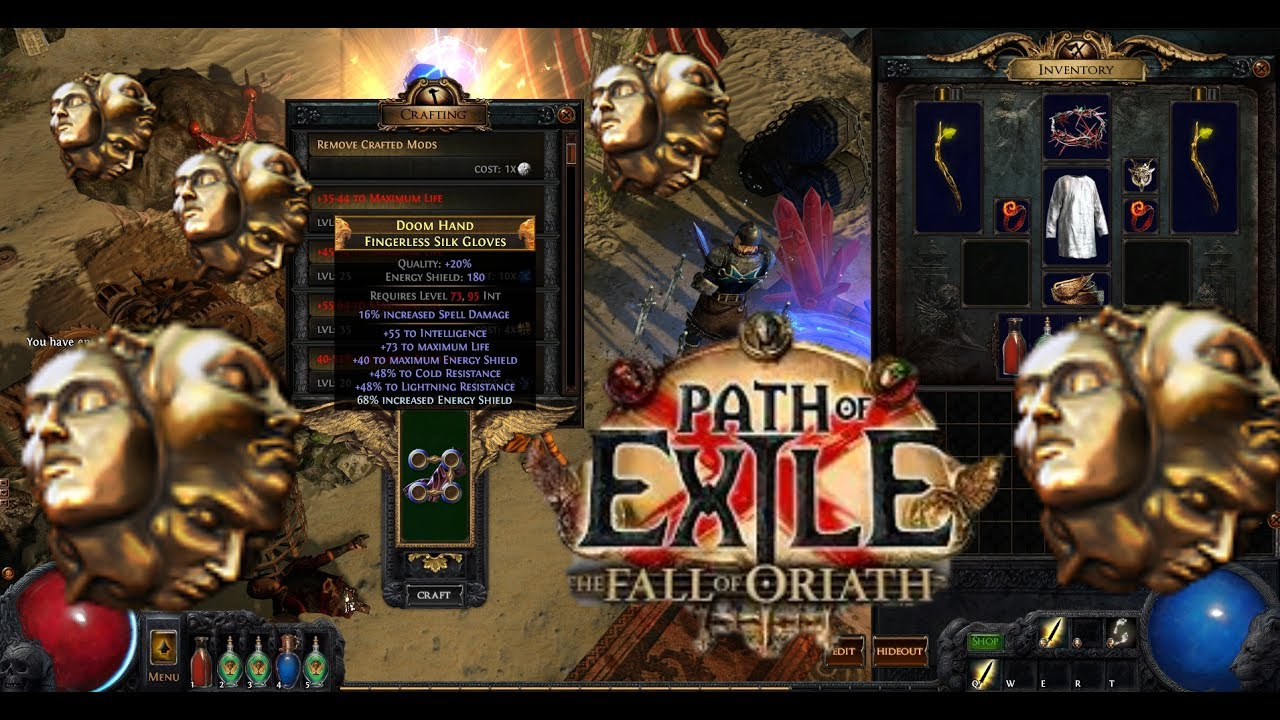 [Path of Exile][2 6] Meta Crafting Triple T1 Suffix Silk Gloves!